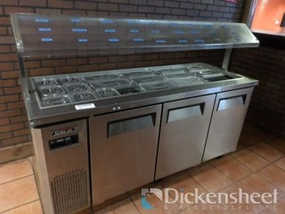 Turbo Air Refrigerated Stainless Steel Salad Bar,