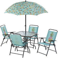 alcove Pineapple Outdoor Patio 5-Pc. Folding Dining Set