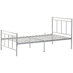 Star Hollow Metal Twin Bed - WHITE