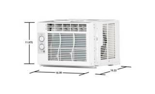 GE Appliances 5,000 Btu 2 Fan Speed 115-volt Room Window Air Conditioner Cooler 150 Sq. Ft.