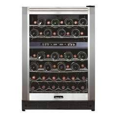 Magic Chef 44 Bottle Dual Zone Wine Cooler in Stainless Steel