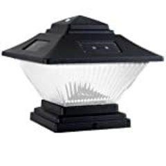Hampton Bay Posts Post-Cap Outdoor Black Solar LED Lights (4-Pack) QPP4-N3-BK-W4