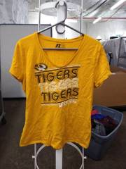 Russell tigers t shirt woman's large
