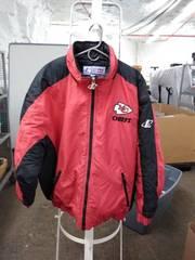 logo athletic pro line authentic chiefs coat xl mens