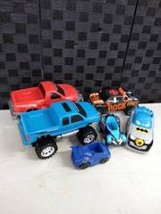 lot of cars and trucks