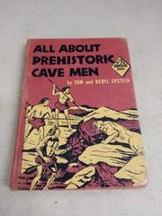 1959 all about prehistoric cave man book