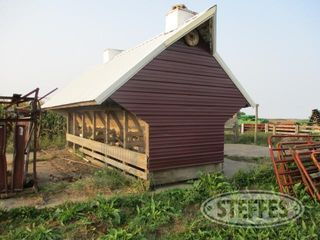 Wood self feeder with tin roof and sides 1 jpg