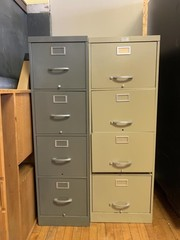 (2) 4 drawer filing cabinets
