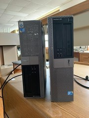 (2) dell towers Model DCNE1F