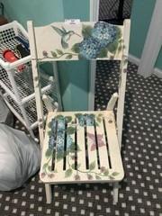Hummingbird Decorated Folding Chair