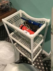 Rolling Storage Cart & Flashlights