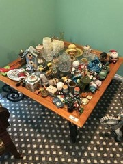 Glass Top Coffee Table & Miscellaneous