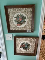 Pair of Fabric Decorator Prints