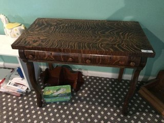 Antique 2 Drawer Table