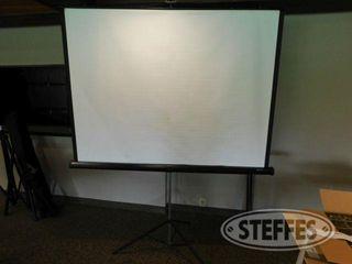 70 x52 Folding Projector Screen W Tripod 2 jpg