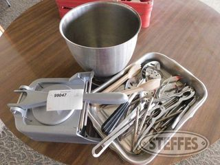 Mixer Bowl Press Serving Spoons Crackers Etc 2 jpg