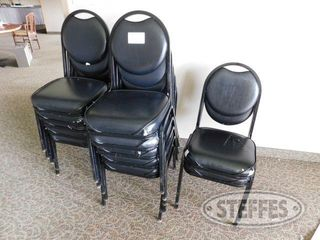 12 Padded Stackable Black Chairs 2 jpg