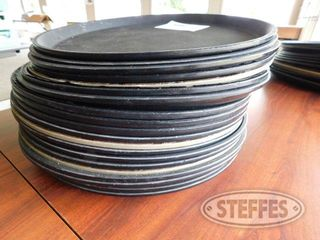 Approx 20 Round Serving Trays 2 jpg