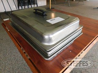 1 Solid 5 Perforated Chafing Dish Pan W lids 2 jpg