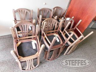Approx 12 Padded Floral Chairs 2 jpg