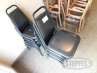 10 Padded Stackable Black Chairs 2 jpg