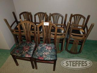 10 Padded Floral Chairs 2 jpg