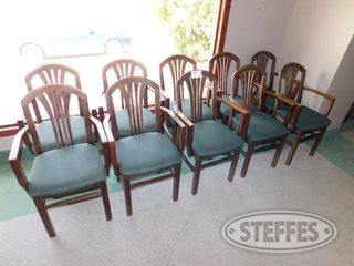 10 Padded Green Arm Chairs 2 jpg