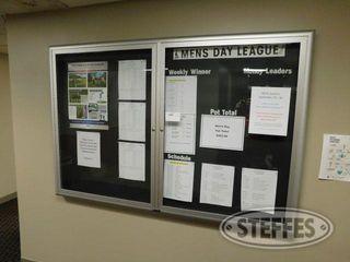 Enclosed 2 Door Glass Display Bulletin Board 2 jpg