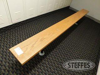 9 Wood locker Room Bench 2 jpg
