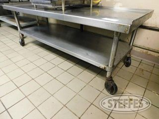 5 x30 Stainless Steel Table on Casters 2 jpg
