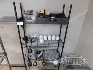 14 x36 Wire Shelf Unit W Contents 2 jpg