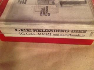 Lee 40 Cal S&W Reloading Dies