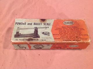 Redding Powder & Bullet Scale