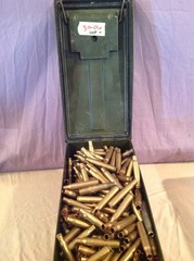 450 30-06 Casings in Metal Ammo Box