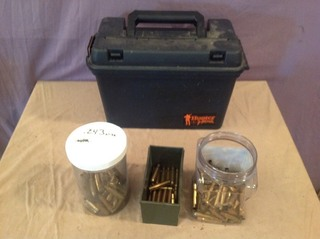 Ammo Box & Assorted Casings