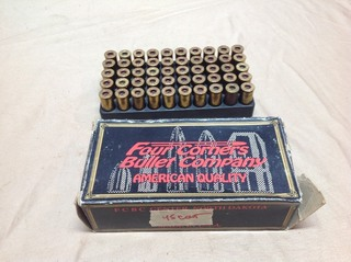 100 45 Colt Casings - Four Corners Bullet Center ND Box