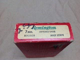 Box Rem 7mm Mauser Unprimed Cases