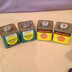 4 Vintage Cans Powder