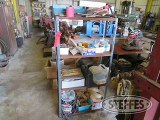 Steel shelving and contents 0 JPG