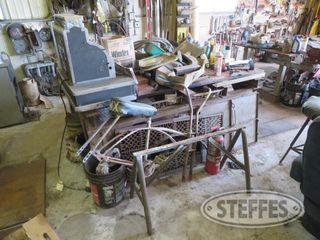 Steel welding bench and contents 0 JPG