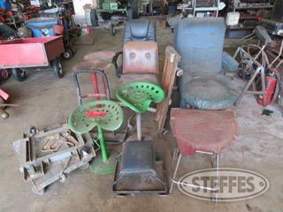 2 Rolling shop dollies steel stools 0 JPG