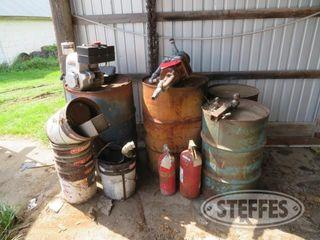 Well pump Tecumseh gas engine steel drums 0 JPG