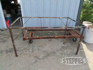 Steel 4 wheel cart steel bench 0 JPG