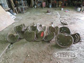 Vintage steel tractor seats 0 JPG