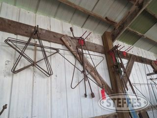 North wall of shed Christmas stars anchors misc iron 0 JPG