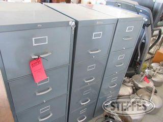 3 Steel 4 drawer fil cabinets 0 JPG