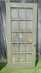 Vintage Wooden Door w/Glass Panels and Original