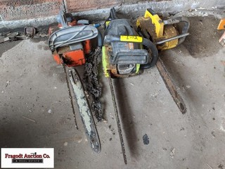 3 chainsaws, unknow running condition