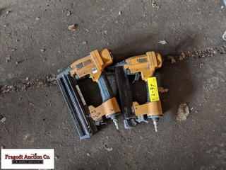 (2) Stanley air nail guns