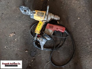 DeWalt drill and Milwaukee shear